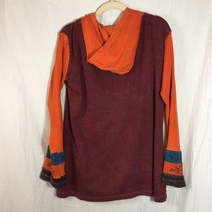 Greater Good Network Jackets & Coats - Greater Good Network Rust and Orange Zip Hoodie